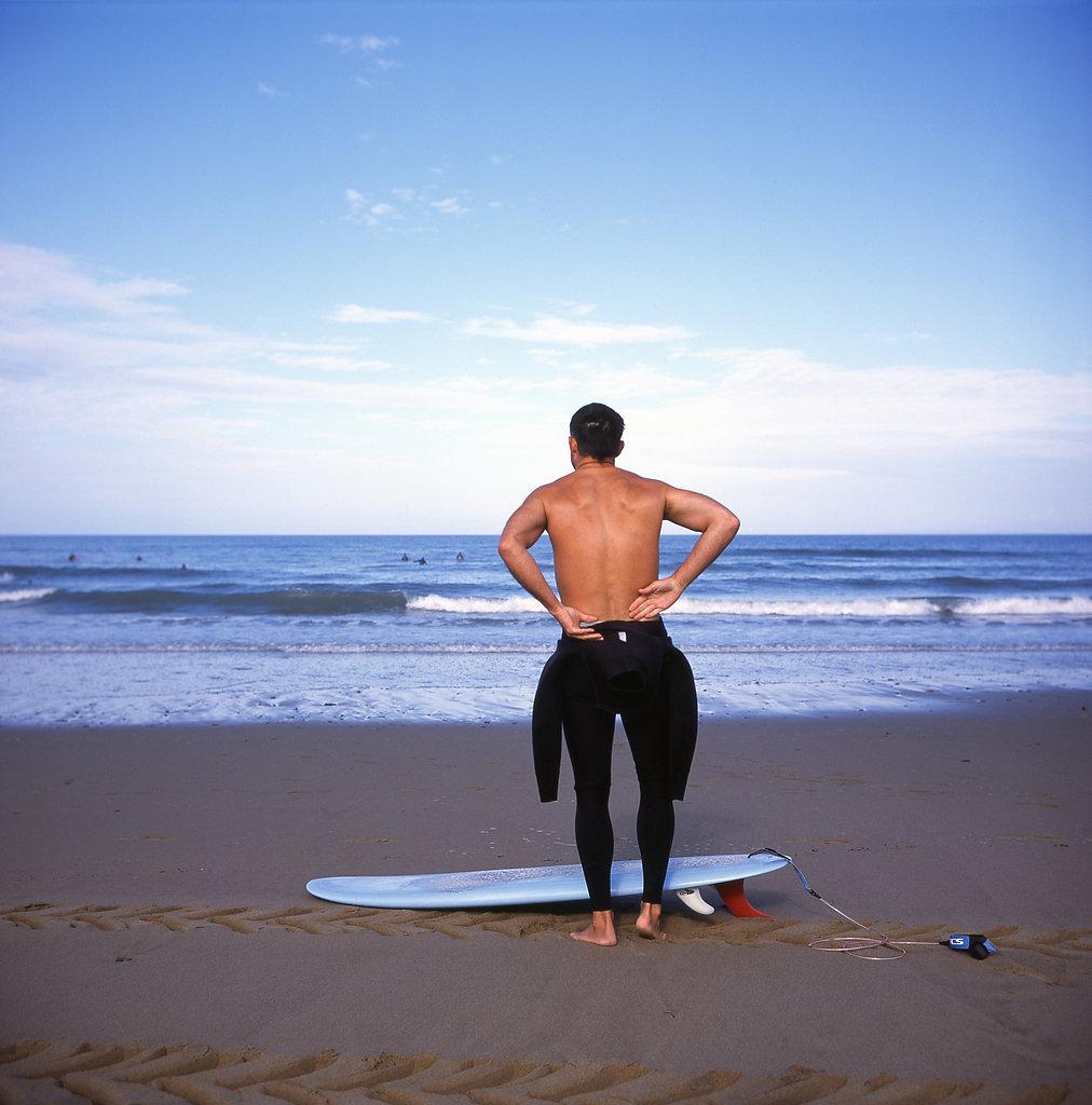 Croyde beach surfer